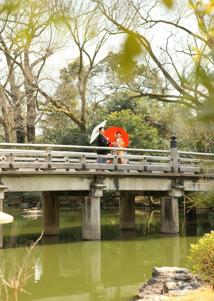 橋の上にて
