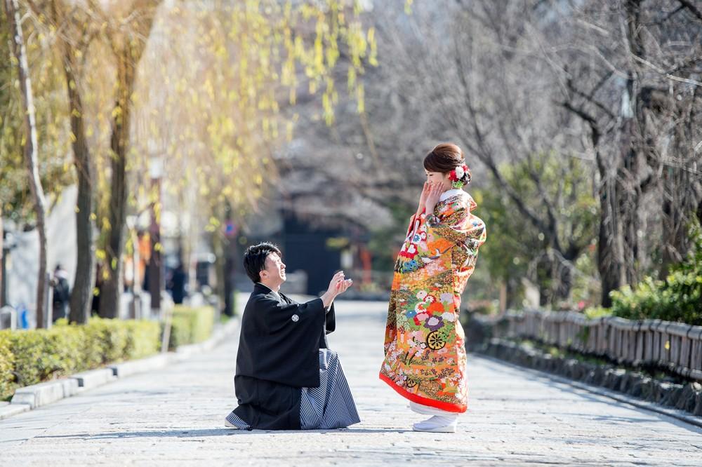 プロポーズシーン京都祇園にて