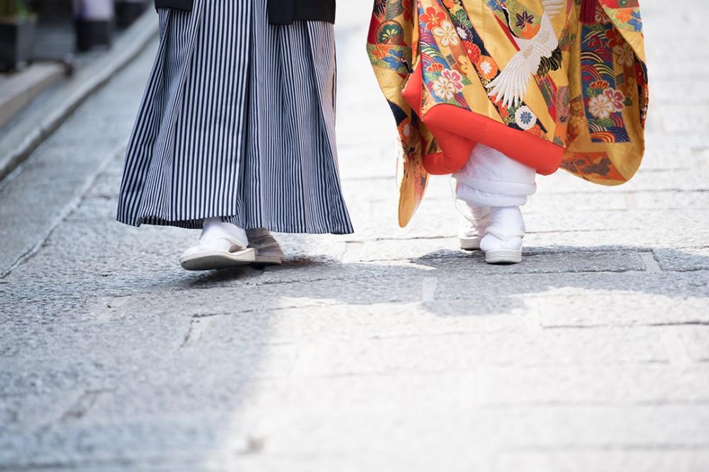 和装の足元撮影