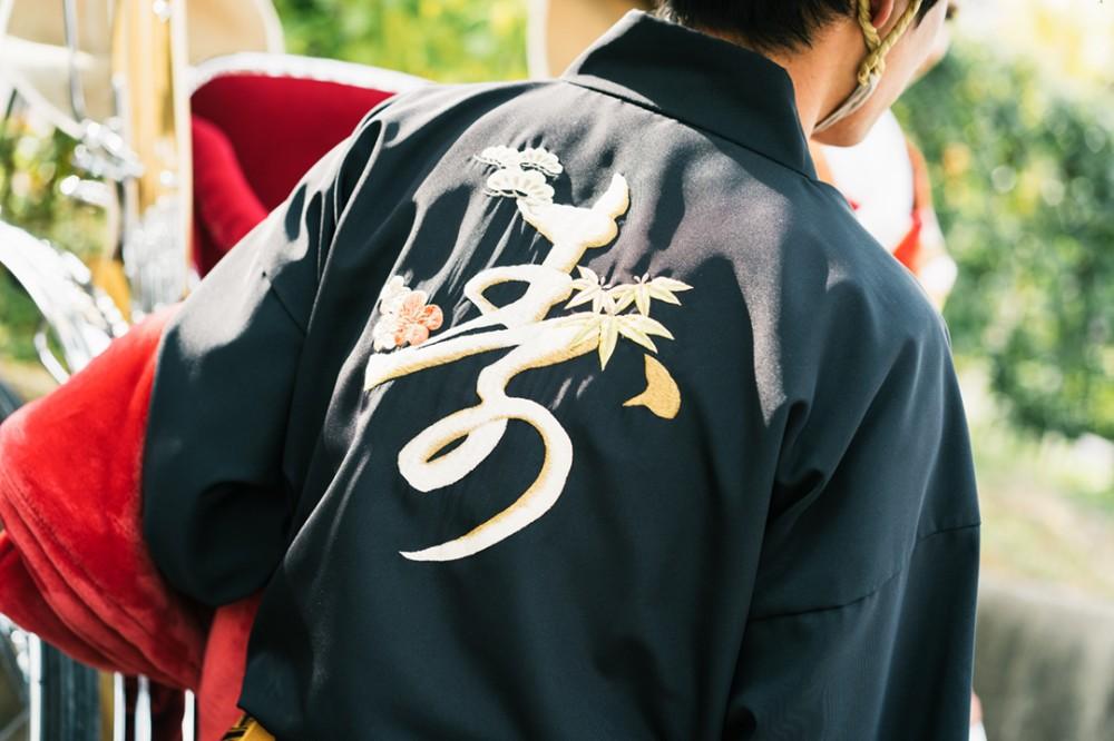 京都の人力車の衣装