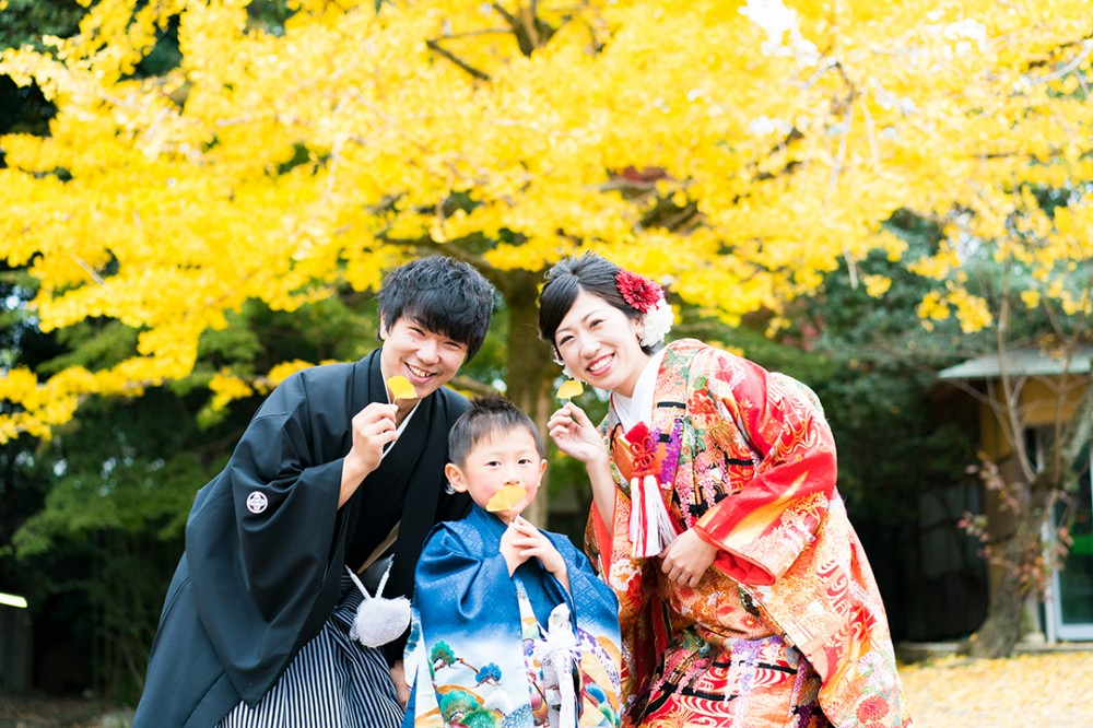 京都からお越しの親子3人組