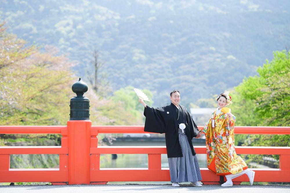京都の岡崎周辺にある朱色の欄干