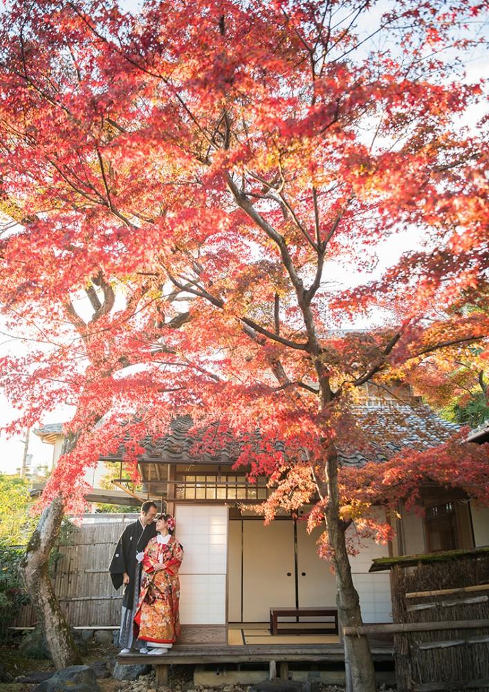 京都は日本家屋での前撮り撮影