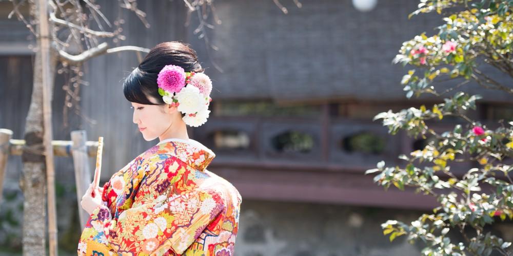 生花。花嫁さんの髪飾り