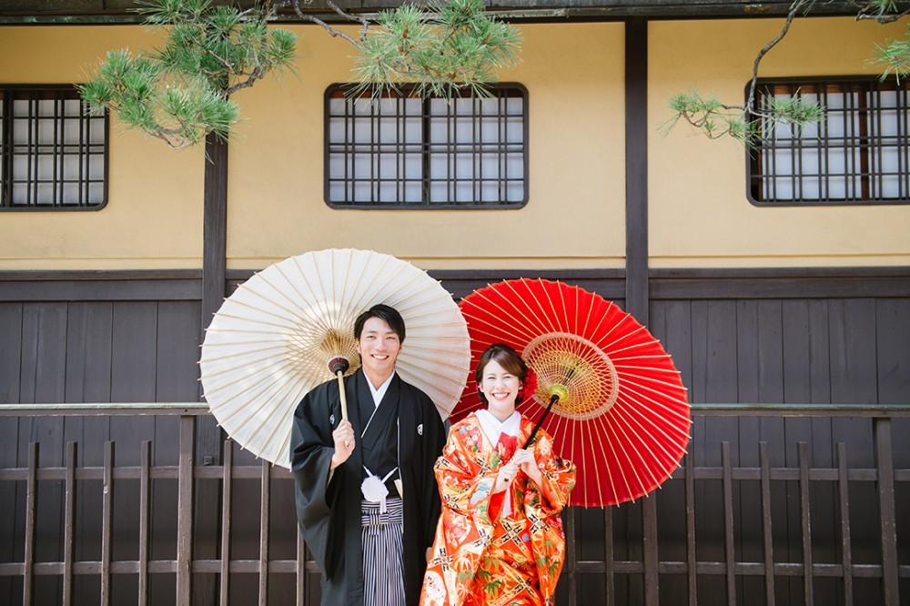 京都での和装前撮り撮影されたKさんとRさん
