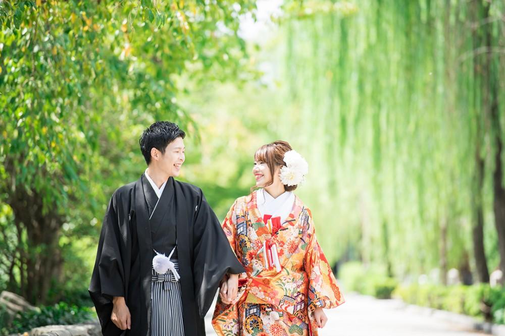 京都は祇園白川で前撮り撮影されたSさんとOさんの写真