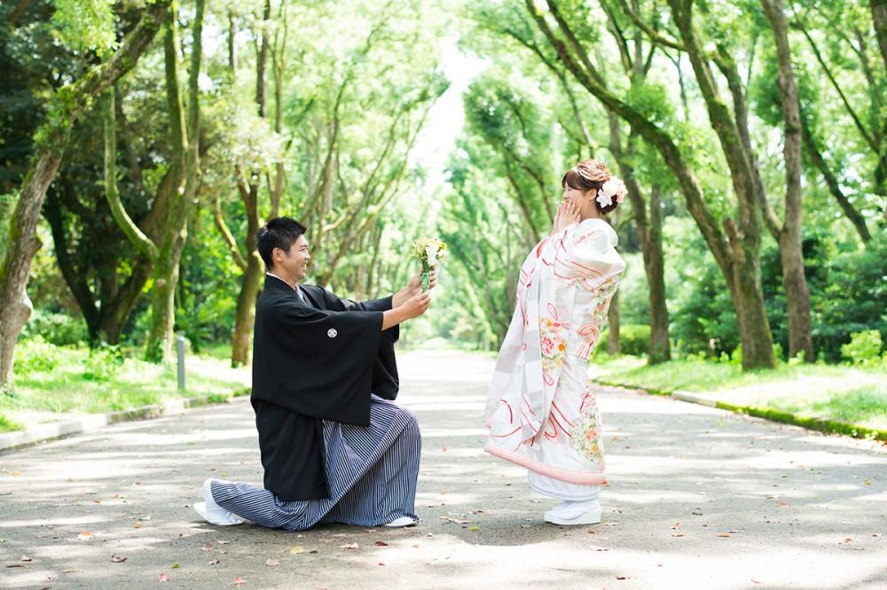 京都の美翔苑より、和装プロポーズシーン