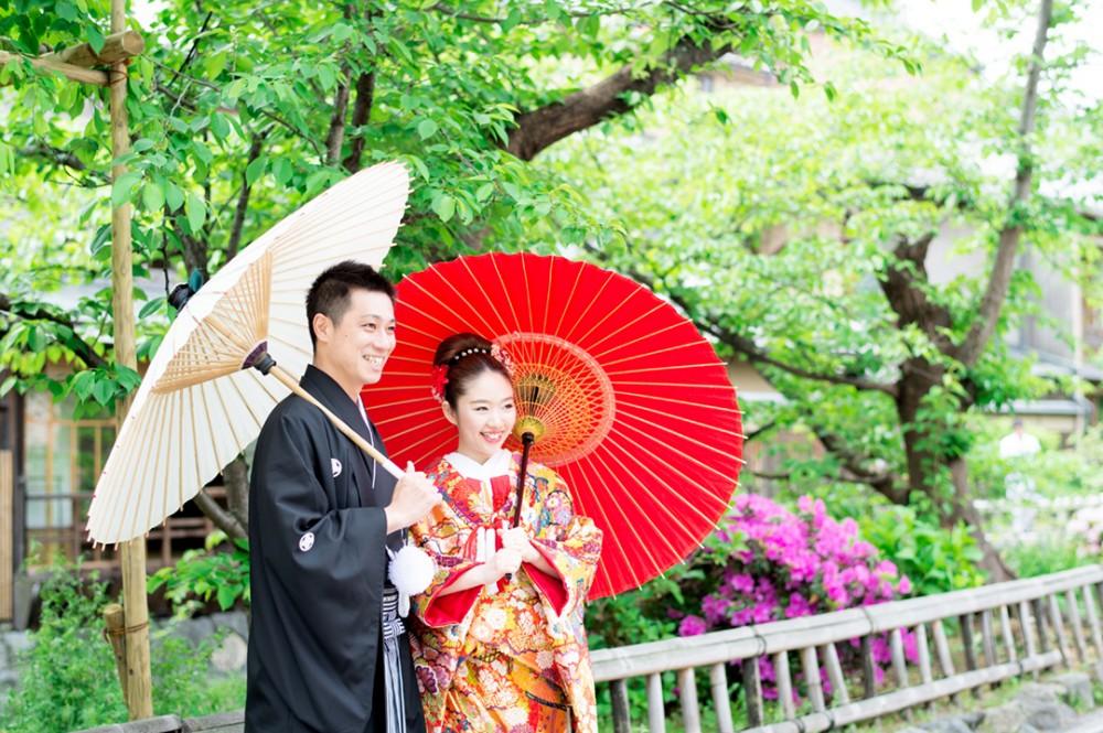 京都は和装前撮りされたFさんとYさん