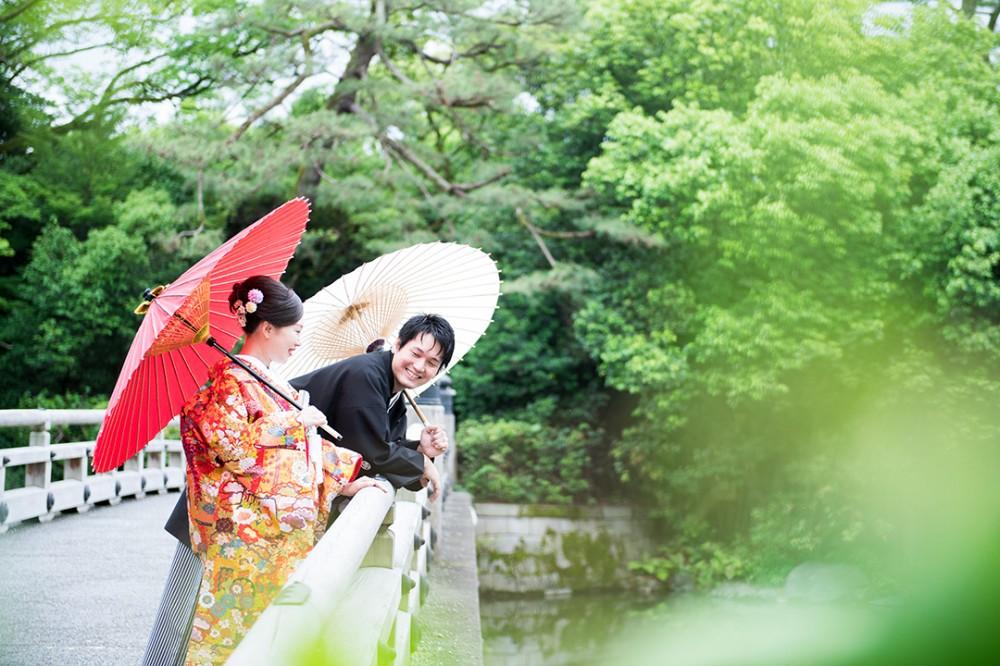 京都でのロケーション撮影のKさんとMさん