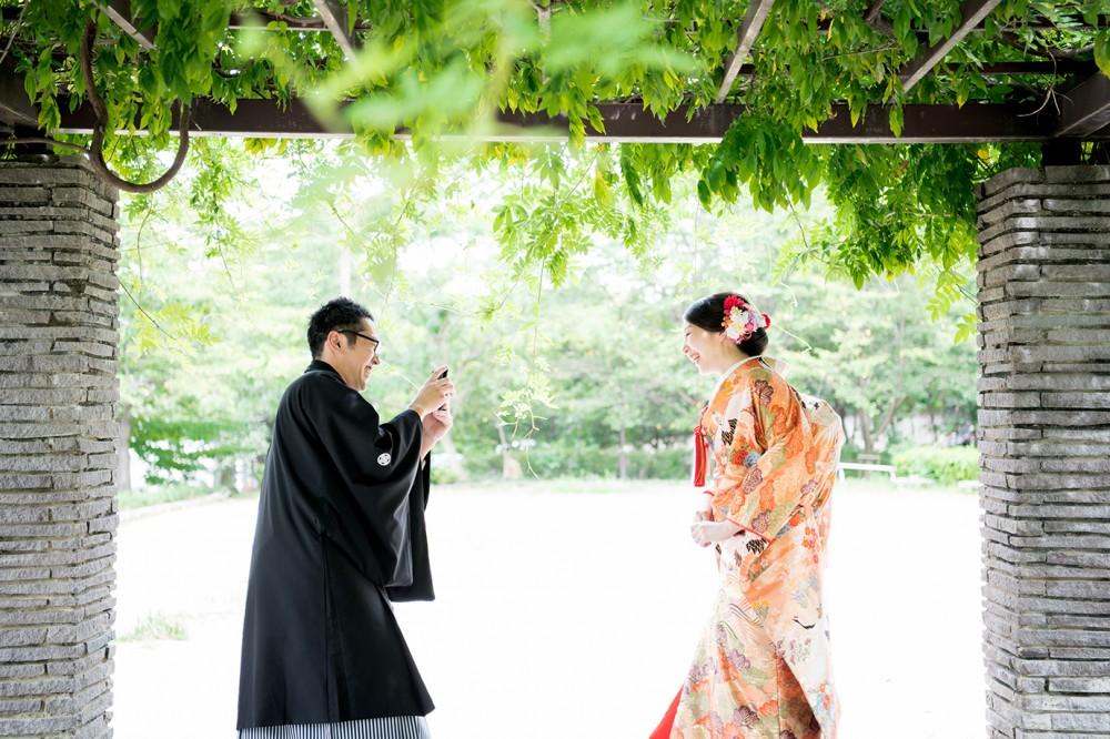 京都でロケーション撮影でのオフショット