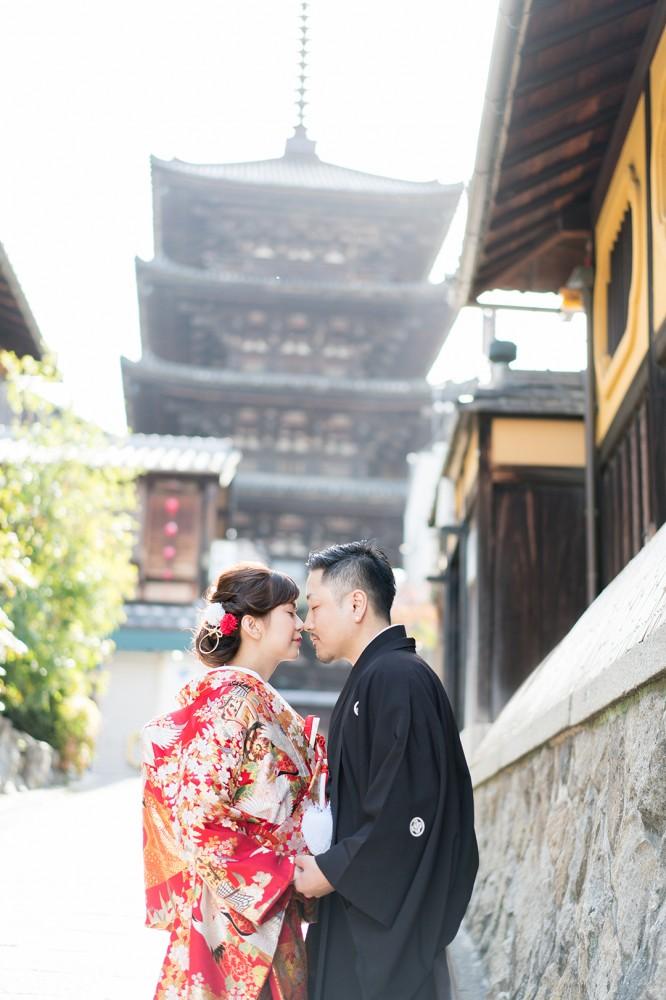 和装の前撮りで北海道から京都へお越しのO様