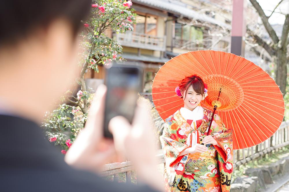 愛する花嫁を撮影