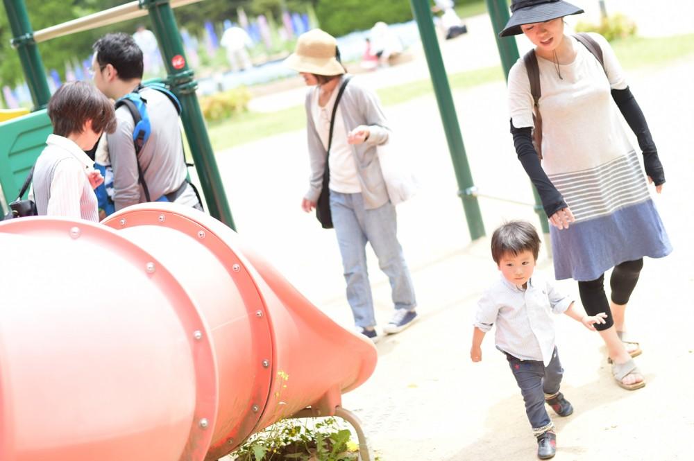 植物園で子供写真