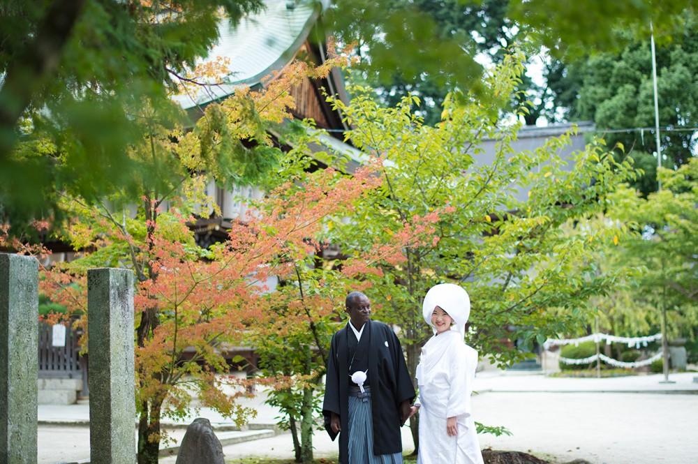 今宮神社にて、和装婚礼撮影