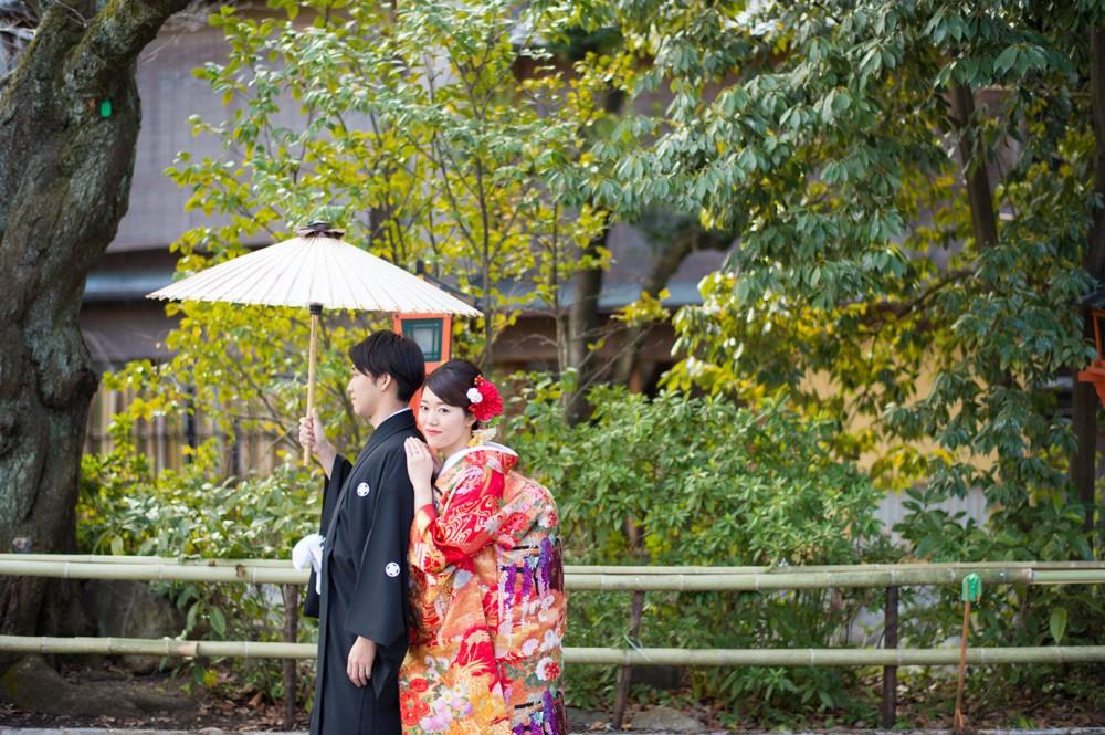 緑が綺麗な祇園