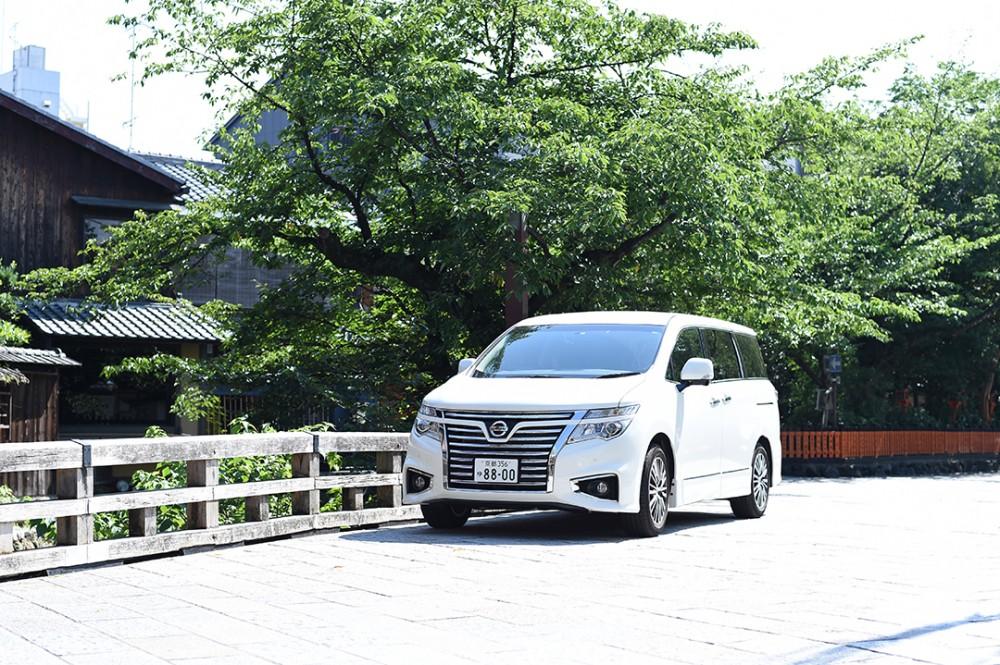 京都美翔苑の前撮り撮影での移動車