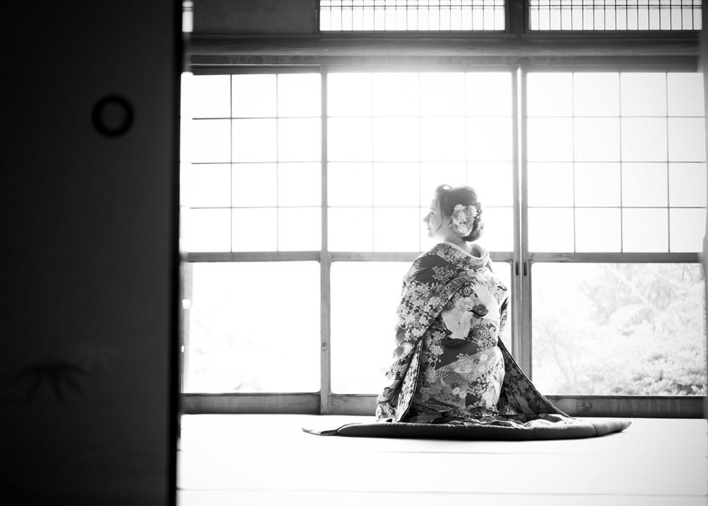 和室で和装前撮り。京都の梅宮大社さんにて。
