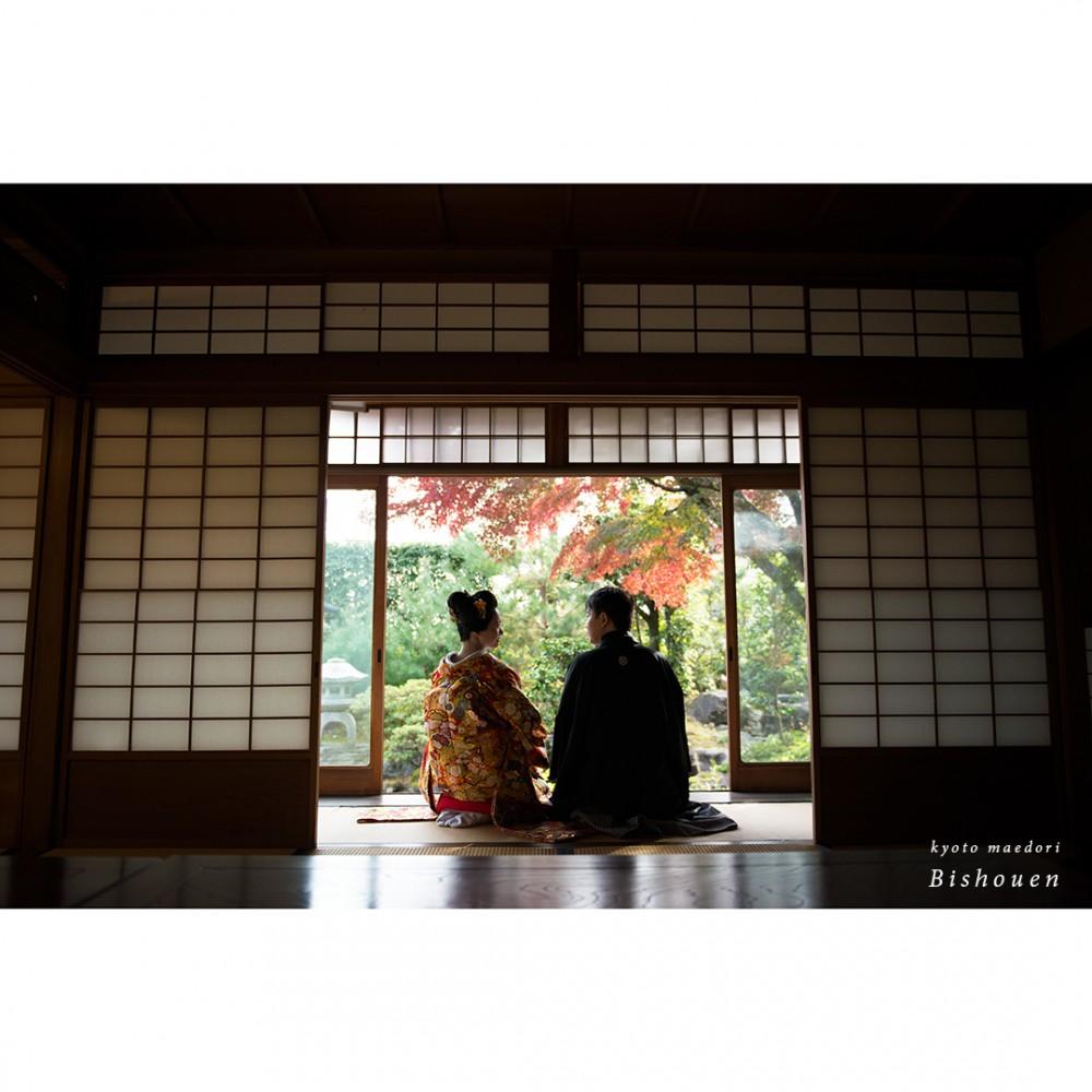日本家屋で撮影
