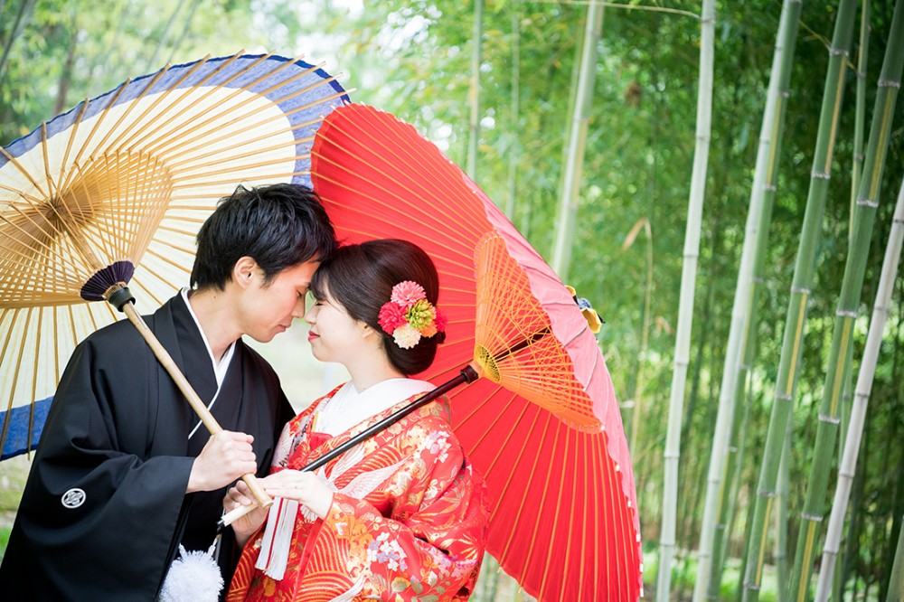京都の森での和装の撮影のYさん