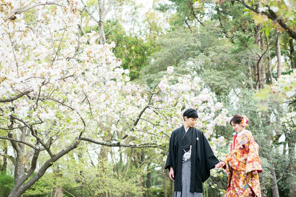 京都は森での和装の撮影のKさん