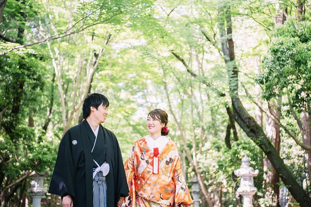 京都で和装の前撮りのI様