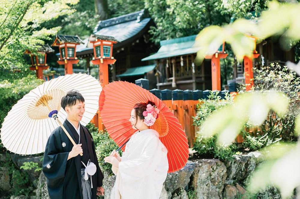 夏が近づいてきた京都での和装の前撮り
