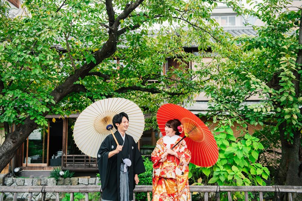 秋前の京都は祇園白川