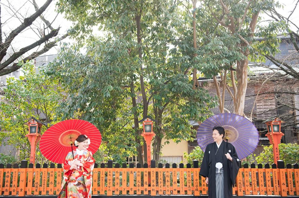 祇園白川にて撮影