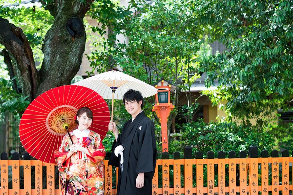 京都の祇園で前撮り
