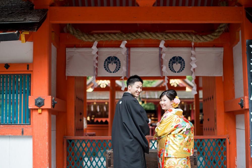 吉田神社で前撮り