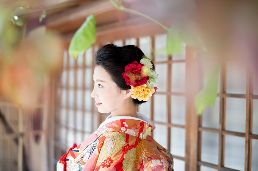 京都は二年坂での新婦様ソロショット
