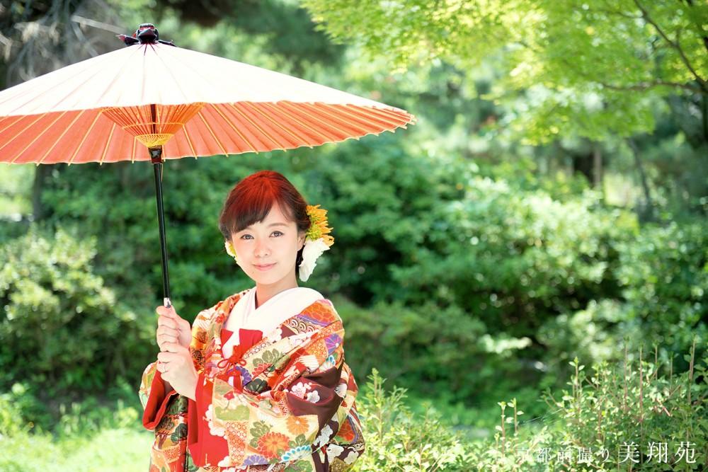 京都前撮り美翔苑のフォトウエディング写真