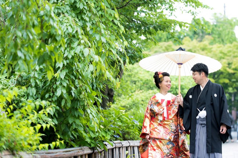 雨の日の祇園撮影