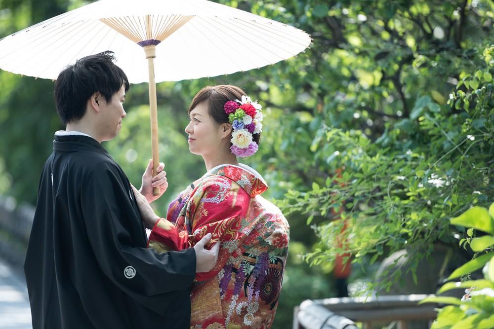 夏の祇園白川にて、和装前撮り