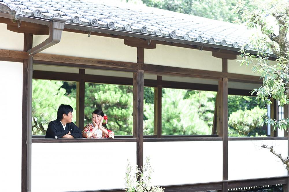 お寺で撮影、京都
