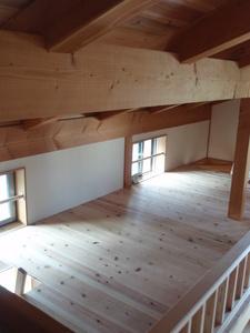 ロフトの設置【滋賀の木の家モデルハウスにて】