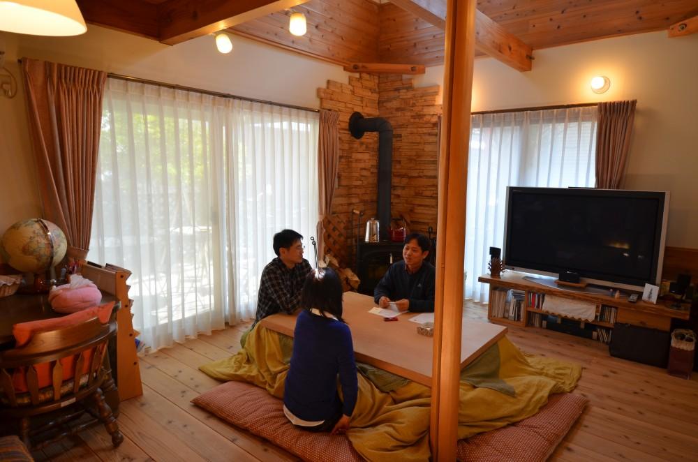 琵琶湖の畔に建つ、大きな吹き抜けのある家:大津市 M様