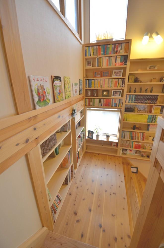 図書スペース(階段の踊り場)