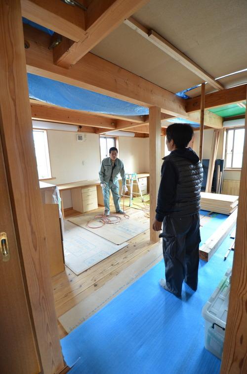 フリースペース⇒子供部屋へ【滋賀の木の家モデルハウスにて】